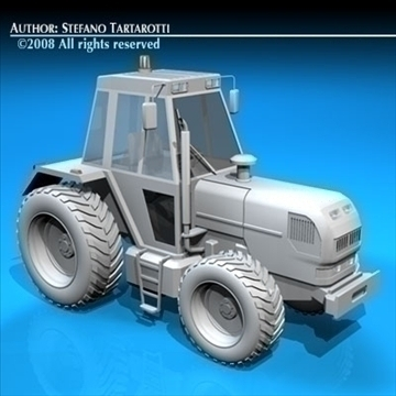 farm tractor 3d model 3ds dxf c4d obj 86641