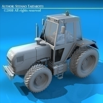 farm tractor 3d model 3ds dxf c4d obj 86642