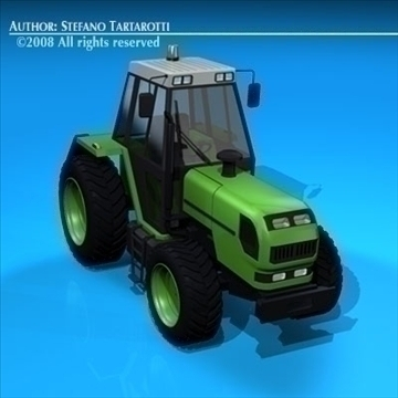 farm tractor 3d model 3ds dxf c4d obj 86644
