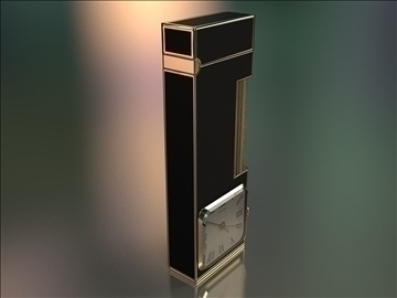 fashion lighter with clocks 3d model max 79410