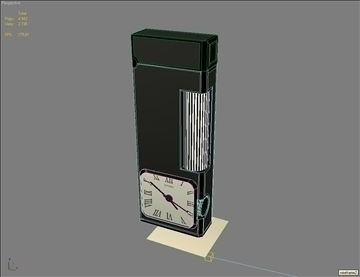 fashion lighter with clocks 3d model max 79416