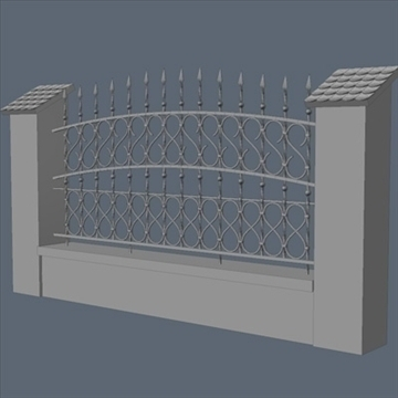 fence for exterior visualization 3d model lwo lxo obj 102260