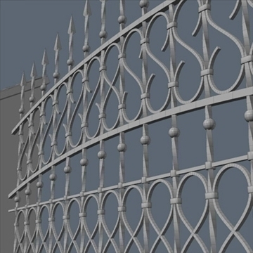 fence for exterior visualization 3d model lwo lxo obj 102261