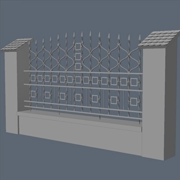 fence for exterior visualization 3d model lwo lxo obj 102262