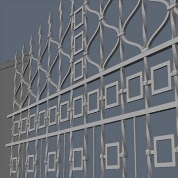 fence for exterior visualization 3d model lwo lxo obj 102263