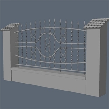 fence for exterior visualization 3d model lwo lxo obj 102264