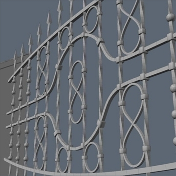 fence for exterior visualization 3d model lwo lxo obj 102265
