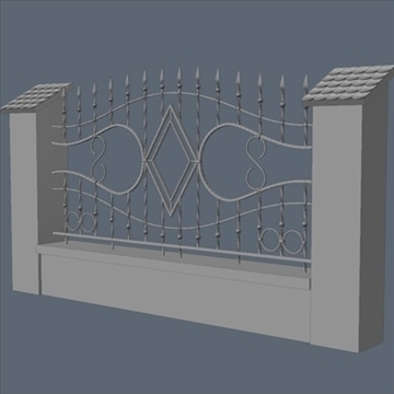 fence for exterior visualization 3d model lwo lxo obj 102266