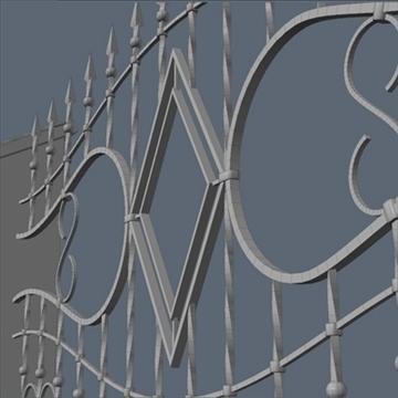 fence for exterior visualization 3d model lwo lxo obj 102267