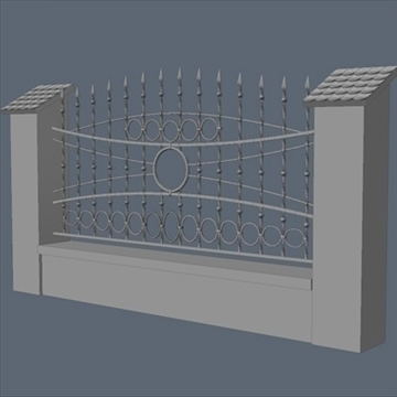 fence for exterior visualization 3d model lwo lxo obj 111311