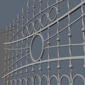 fence for exterior visualization 3d model lwo lxo obj 111312