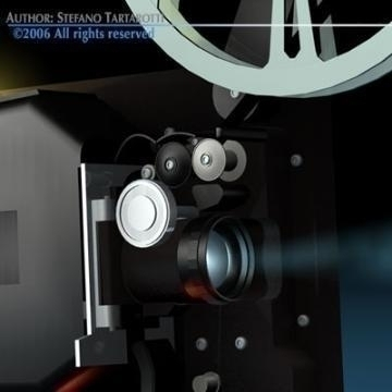 film projector 3d model 3ds c4d obj 77442