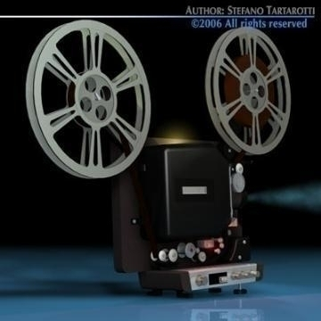 film projector 3d model 3ds c4d obj 77443