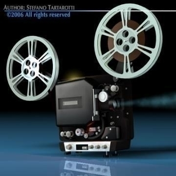 film projector 3d model 3ds c4d obj 77444