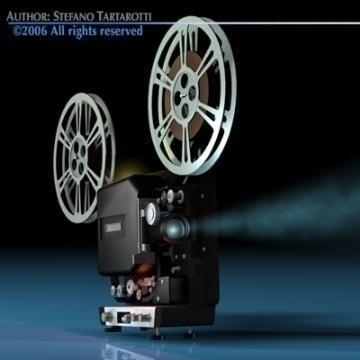 film projector 3d model 3ds c4d obj 77445