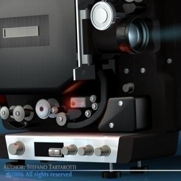 film projector 3d model 3ds c4d obj 77446