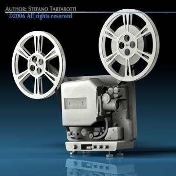 film projector 3d model 3ds c4d obj 77447