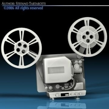 film projector 3d model 3ds c4d obj 77448