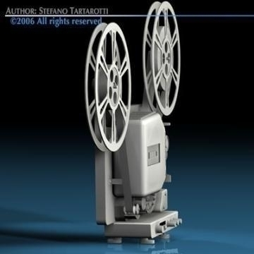 film projector 3d model 3ds c4d obj 77449