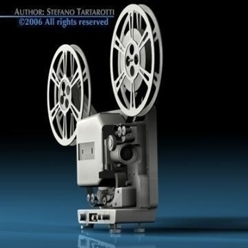 film projector 3d model 3ds c4d obj 77450