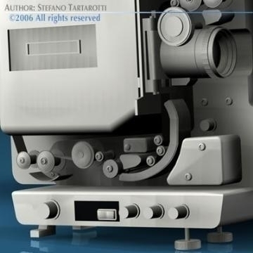 film projector 3d model 3ds c4d obj 77451