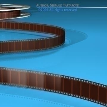 film reel 3d model 3ds dxf c4d obj 78327