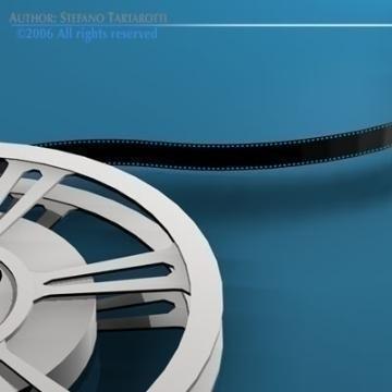 film reel 3d model 3ds dxf c4d obj 78333