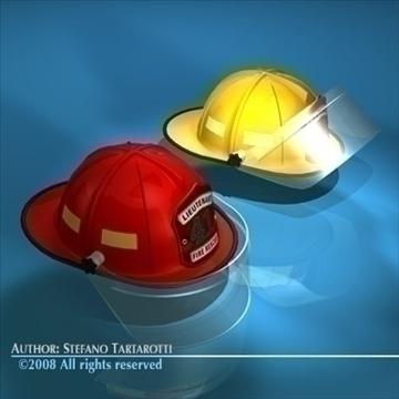 firemen helmet 3d model 3ds dxf c4d obj 91656