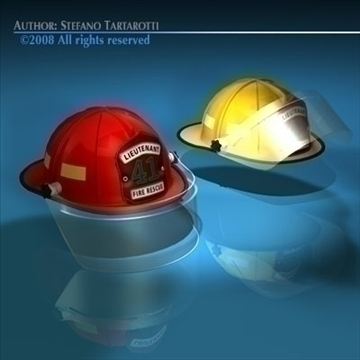 firemen helmet 3d model 3ds dxf c4d obj 91657