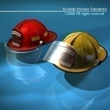 firemen helmet 3d model 3ds dxf c4d obj 91658
