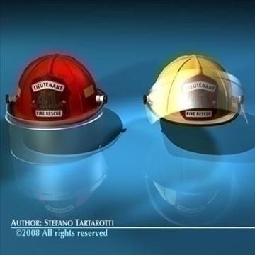 firemen helmet 3d model 3ds dxf c4d obj 91659