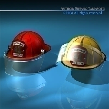 firemen helmet 3d model 3ds dxf c4d obj 91660