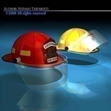 firemen helmet 3d model 3ds dxf c4d obj 91661