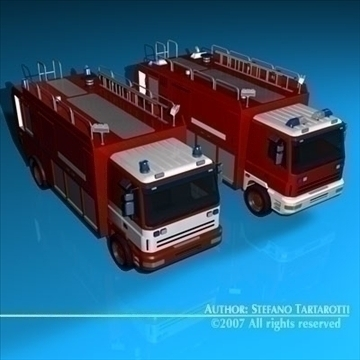 firetruck 3d model 3ds dxf c4d obj 85518