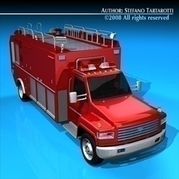 firetruck us medium 3d model 3ds dxf c4d obj 86520