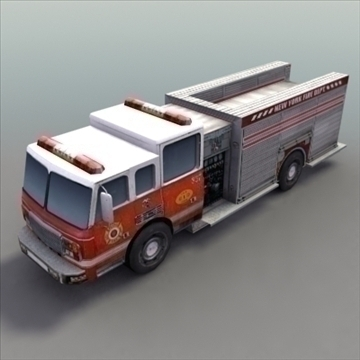 firetruck_rescue model 3d 3ds max fbx ar gyfer y gwead hylif 99319