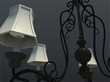 five light df traditional chandelier 3d model 3ds max ma mb 102144