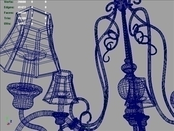 five light df traditional chandelier 3d model 3ds max ma mb 102146