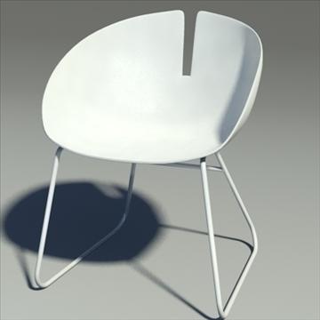 fjord armchair white 3d model max dwg fbx obj 87847
