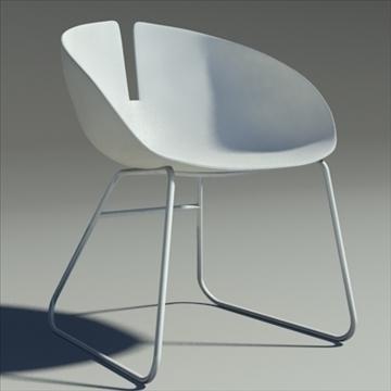 fjord krēsls balts 3d modelis max dwg fbx obj 87848