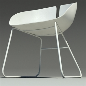 fjord krēsls balts 3d modelis max dwg fbx obj 87850