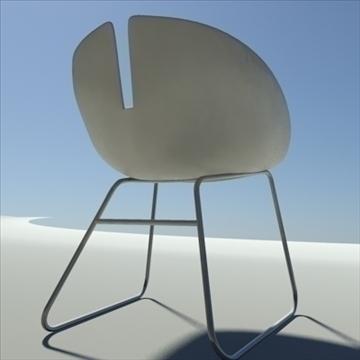 fjord krēsls balts 3d modelis max dwg fbx obj 87851