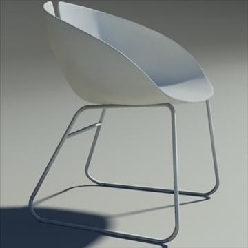 fjord krēsls balts 3d modelis max dwg fbx obj 87852