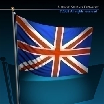 flag united kingdom 3d model 3ds dxf c4d obj 89641