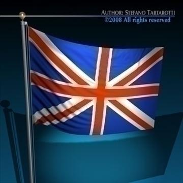 zastava ujedinjeno kraljevstvo 3d model 3ds dxf c4d obj 89641