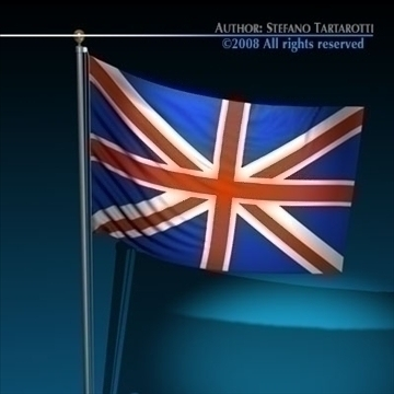 flag united kingdom 3d model 3ds dxf c4d obj 89642
