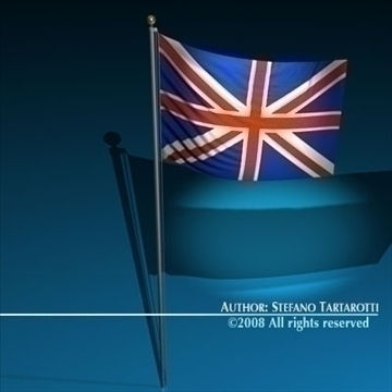 flag united kingdom 3d model 3ds dxf c4d obj 89644