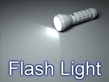 flash light 001 3d model 3ds max ma mb obj 102415