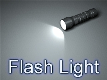 flash light 002 3d model 3ds max ma mb obj 102422
