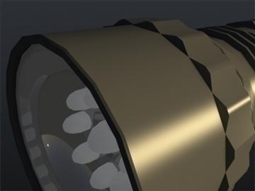 flash light 002 3d model 3ds max ma mb obj 102424